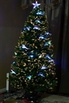 Brand New 6' Frasier Fir Artificial Pre-Lit Fiber Optic Christmas Tree with Star and Deers
