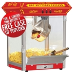 Brand New Carnival Style 8oz Hot Oil Popcorn Machine (Red)