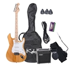 "Full Size 39"" Electric Guitar Pack in Natural Finish"