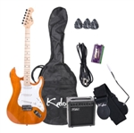 "Full Size 39"" Electric Guitar Pack In Amber"