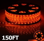 High Quality 150' Orange Led Outdoor Rope Light 1/2 Inch Tube 110V
