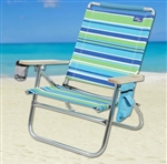 2 High Back Reclining Beach Chairs