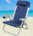 Brand New Backpack Reclining Beach Chair with Built-In Cooler