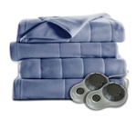 High Quality Thick Quilted Fleece Electric Heater Blanket w/ Remote