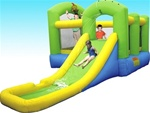 Bounce 'N Splash Island Bouncy House With Blower - Wet or Dry
