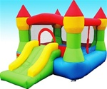 Castle Bouncer N' Slide Bouncy House with Hoop