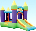 Magic Bouncer N' Slide Bouncy House with Hoop