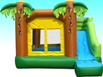 Jungle Bouncer bouncy House with Velcro Roof Top