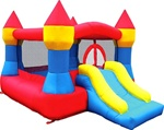 Blue & Red Castle Bouncer Bouncy House With Blower