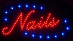 Brand New Nails Window Display LED Message Sign