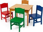 Brand New Nantucket Table & 4 Primary Chairs