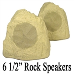 Sandstone Outdoor Audio Garden Rock Speakers