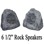 "Outdoor Grey Rock 6.5"" Speaker Set"