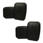 2 pack of 300W Black Omni-directional Outdoor Speakers