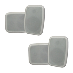 "Mountable White 4.25"" Outdoor Speakers"