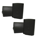 "2 Pair Outdoor 5.25"" Black Mountable Speakers"
