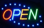 Brand New Open Four-Color Window Display LED Message Sign