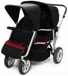 Newly Designed Triple Triplet Baby Jogger Stroller Infant Roller Outdoor Chair