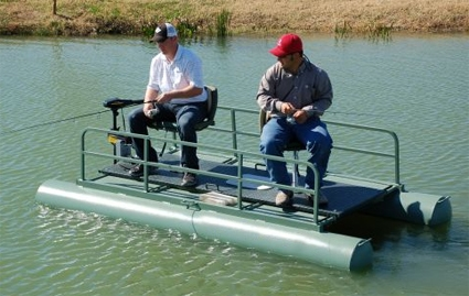 Brand new 10 ft two person pontoon fishing boat for Two man fishing boat