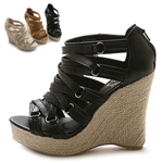 Platform Wedge Heel Sandals