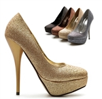 Glitter Platform Stiletto High Heels