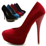 Faux Suede Stilettos High Heels Pumps