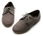 Loafers Oxford Faux Suede Lace Ups Ballet Flats