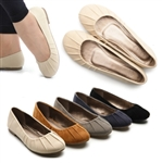 Faux Suede Ballet Low Heels Flats Loafers