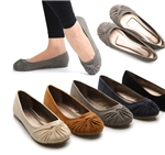 Faux Suede Ballet Low Heel Flat Loafers