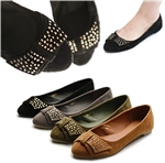 Ballet Flat Loafer Comfy Soft w/Cute Bow Accent