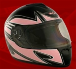 Adult Spartan Pink Full Face Motorcycle Helmet (DOT Approved)