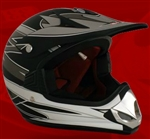 Youth Gray Matte Motocross Helmet (DOT Approved)