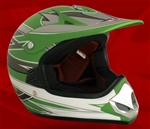 Youth Green Matte Motocross Helmet (DOT Approved)
