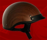 Adult Wood Half Helmet Cruising Helmet (DOT Approved)