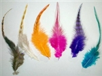 High Quality Flashy Feather Hair Extensions - 100 pieces