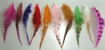 High Quality Vivid Feather Hair Extensions - 100 pieces