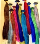 High Quality Colorful Faux Feather Style Hair Extensions - 100 pieces