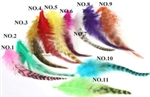 High Quality Fluffy Feather Hair Extensions - 100 pieces
