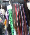 High Quality Long Faux Feather Hair Extensions - 100 pieces