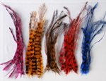 High Quality Flamboyant Feather Hair Extensions - 100 pieces
