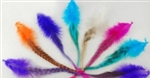 High Quality Neon Colored Feather Hair Extensions - 100 pieces
