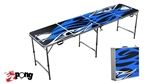 High Quality 8ft Tribal Blue Beer Pong Table