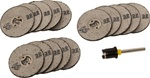 High Quality 15 piece Rotary Cut-Off Wheels with Lock Mandrel