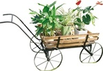 High Quality Strong and Sturdy Wood and Iron Plant Stand Cart
