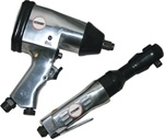 "High Quality 1/2"" Air Impact Wrench & 3/8"" Air Ratchet Set"