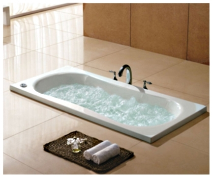 whisper brand new royal a1609 drop-in bathtub with air jets