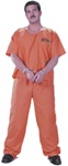 Got Busted Jumpsuit - Orange Costume
