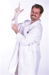 Lab Coat Harry Fingerman Halloween Costume
