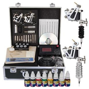High Quality Striker LCD 2 Guns Tattoo Machine Kit