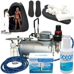 Complete Professional Sunless Tanning Airbrush Spray Tan Mist System